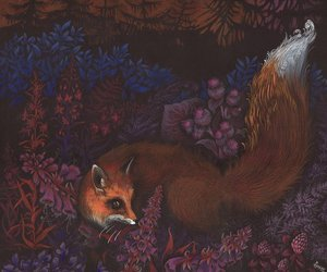 fox, art, and painting image