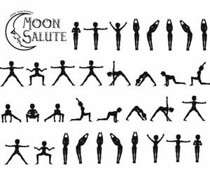 yoga and moon image