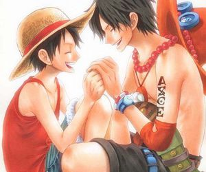 brother, one piece, and luffy image
