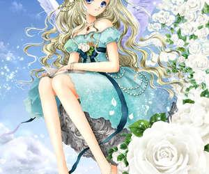 anime girl, anime angel, and anime cute girl image