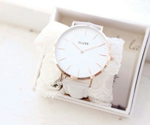 watch, white, and gold image