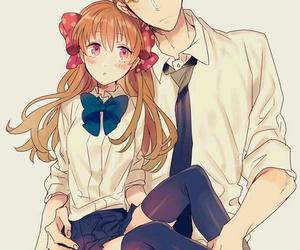 anime, gekkan shoujo nozaki-kun, and couple image