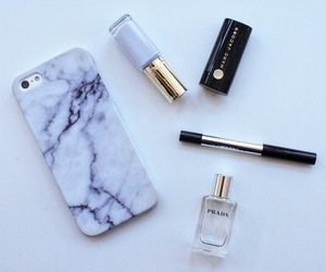 iphone, makeup, and marble image