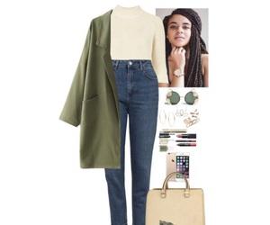 coat, cream, and fashion image