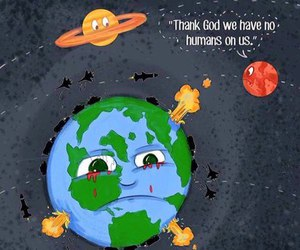 earth, humans, and world image