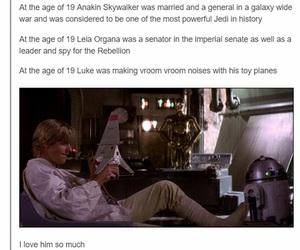 luke skywalker, star wars, and Anakin Skywalker image