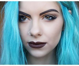 alternative, blue hair, and fashion image