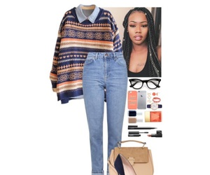 beige, fashion, and navy blue image