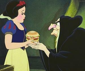 hamburger, blancheneige, and sorciere image