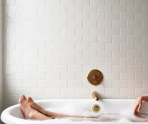 bath, relax, and white image