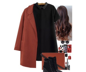 black, Polyvore, and boots image