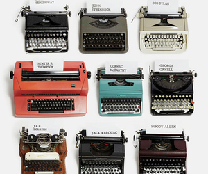 typewriter, vintage, and writer image