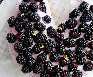 blackberry, cake, and food image