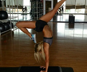 blond hair, motivation, and fit image