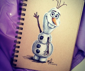 frozen, olaf, and drawing image