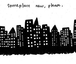 city, drawing, and text image