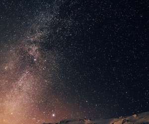 Moutains, sky, and stars image