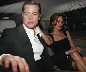 brad pitt, Angelina Jolie, and couple image