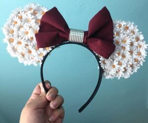 artsy, bow, and daisies image