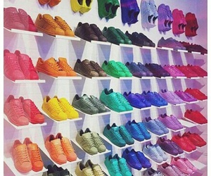 shoes, adidas, and colorful image