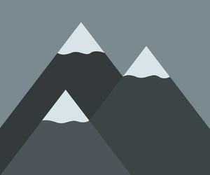 minimal, wallpaper, and moutain image