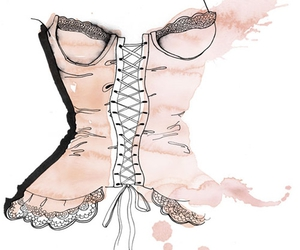 drawing, corset, and pink image