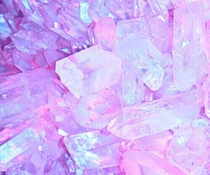 pink, crystal, and wallpaper image