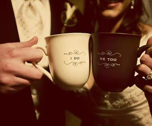 love, wedding, and cup image