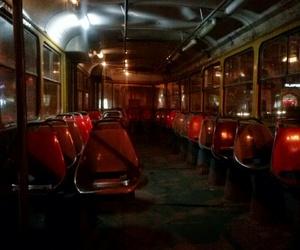 inside, night, and tram image
