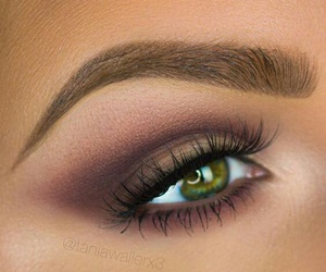 beauty, green eyes, and makeup image