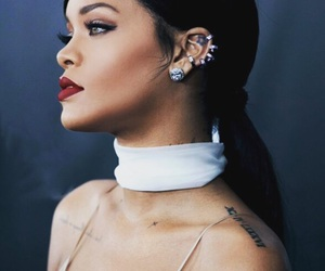 rihanna, beautiful, and makeup image