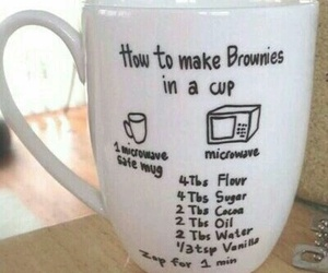 cup, brownies, and diy image