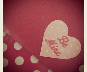 be mine, heart, and valentines image
