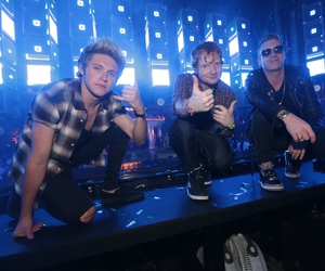 ed sheeran, niall horan, and macklemore image