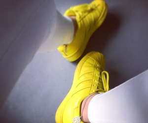 adidas, yellow, and supercolor image
