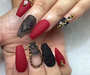 nails, red, and black image