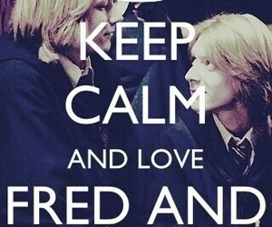 harry potter, keep calm, and Fred image