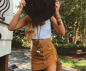fashion, hippie, and hat image