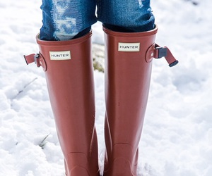 preppy, hunter boots, and sarah vickers image