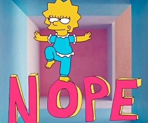 nope, lisa, and funny image