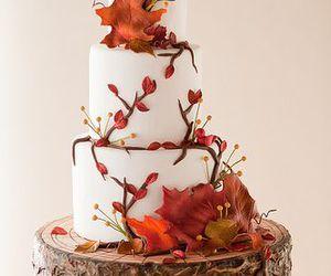 cake, autumn, and wedding image