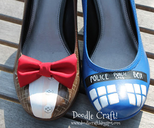 doctor who, shoes, and tardis image