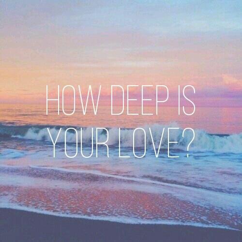 How Deep Is Your Love Calvin Harris On We Heart It