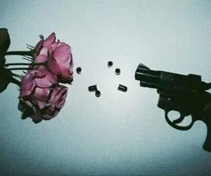 rose, gun, and grunge image