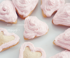 cupcakes, heart, and valentines day image