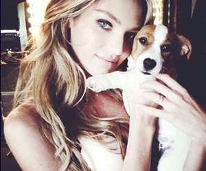 blonde, model, and puppy image