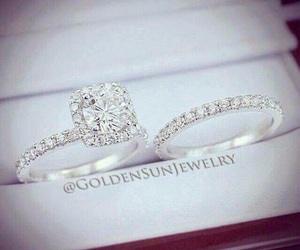 ring, diamond, and rings image