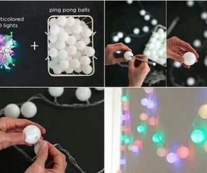 diy, light, and ball image