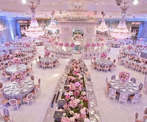 wedding, flowers, and pink image