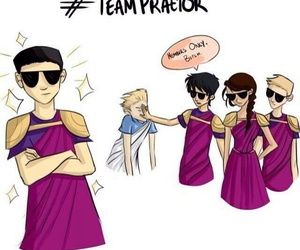 percy jackson, Reyna, and octavian image